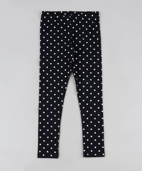 Calca-Legging-Infantil-Basica-Estampada-de-Poa-Preta-9942628-Preto_1