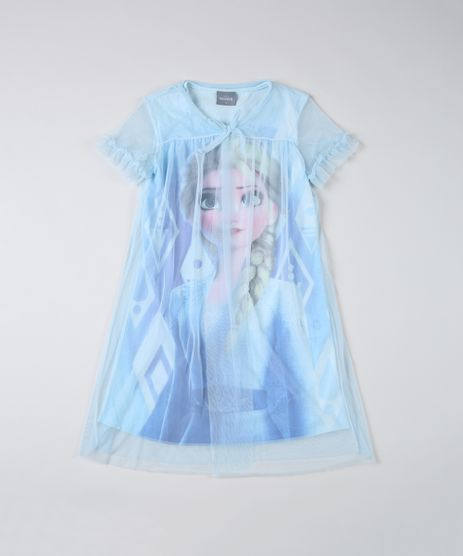 Camisola-Infantil-Elsa-com-Tule-Manga-Curta-Decote-V-Azul-Claro-9916471-Azul_Claro_1