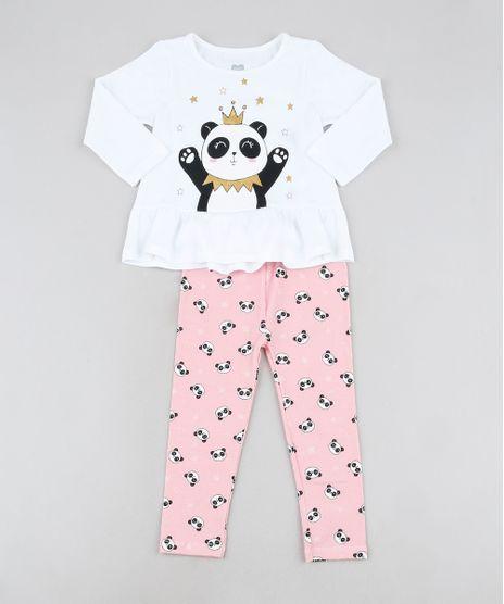 Conjunto-Infantil-de-Blusa-Panda-com-Babado-Manga-Longa-Branca---Calca-Legging-Estampada-Rosa-9944847-Rosa_1