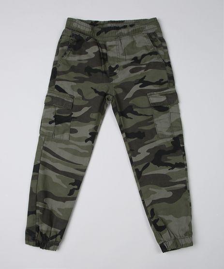 Calca-Infantil-Jogger-Estampada-Camuflada-Com-Bolsos-Verde-Militar-9946868-Verde_Militar_1