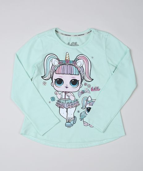 Blusa-Infantil-LOL-Surprise-Unicornio-Manga-Longa-Azul-Claro-9946764-Azul_Claro_1