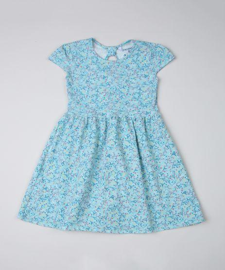 Vestido-Infantil-Estampado-Floral-Manga-Curta-Azul-Claro-9915727-Azul_Claro_1