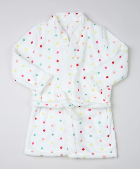 Roupao-Infantil-em-Fleece-Estampado-de-Poa-Manga-Longa-Branco-9950959-Branco_1