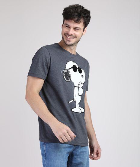 Camiseta-Masculina-Snoopy-Manga-Curta-Gola-Careca-Cinza-Mescla-Escuro-9687494-Cinza_Mescla_Escuro_1