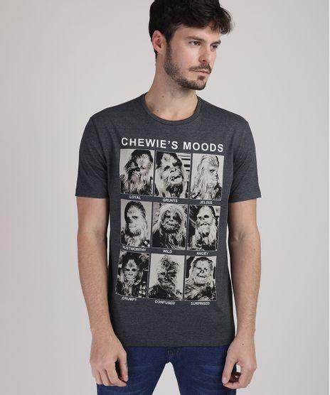Camiseta-Masculina-Star-Wars-Manga-Curta-Gola-Careca-Cinza-Mescla-Escuro-9884887-Cinza_Mescla_Escuro_1