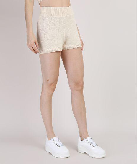 Short-de-Trico-Feminino-Mindset-Hot-Pant-Cintura-Super-Alta-com-Elastico-Bege-Claro-9950743-Bege_Claro_1