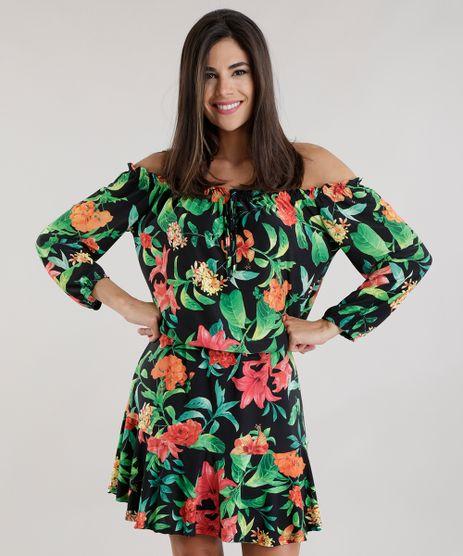 Vestido-Ombro-a-Ombro-Estampado-Floral-Preto-8713741-Preto_1