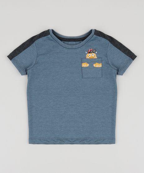 Camiseta-Infantil-Monstrinho-com-Bolso-Manga-Curta-Azul-9944010-Azul_1