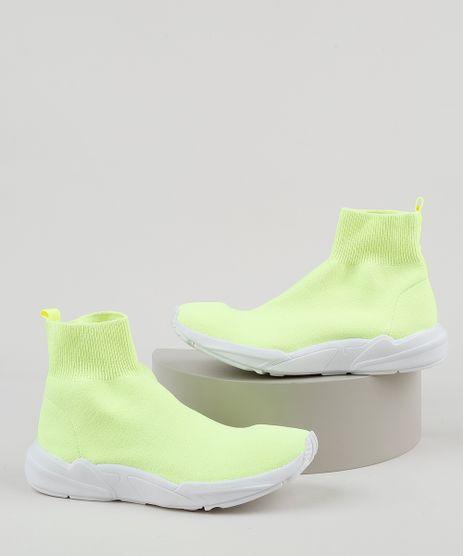 Tenis-Meia-Masculino-Oneself-Cano-Alto-Knit-Amarelo-Neon-9946330-Amarelo_Neon_1