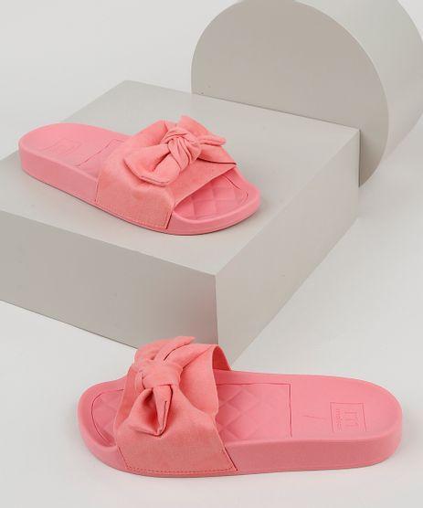Chinelo-Slide-Feminino-Moleca-com-Laco-em-Suede-Rosa-9952630-Rosa_1