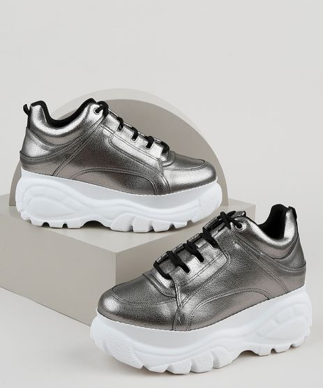 Tenis-Feminino-Oneself-Sneaker-Chunky-Metalizado-Prateado-9949547-Prateado_1