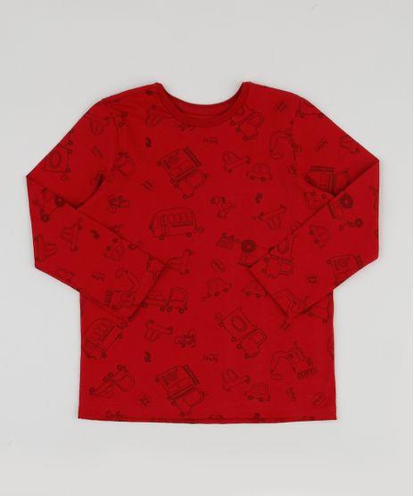 Camiseta-Infantil-Estampada-de-Carros-Manga-Longa-Vermelha-9943470-Vermelho_1