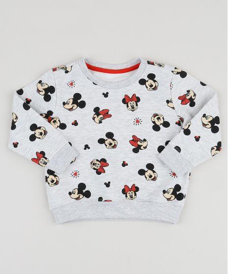 Blusao-de-Moletom-Infantil-Mickey-e-Minnie-Estampado-Decote-Redondo-Cinza-Mescla-Claro-9944596-Cinza_Mescla_Claro_1
