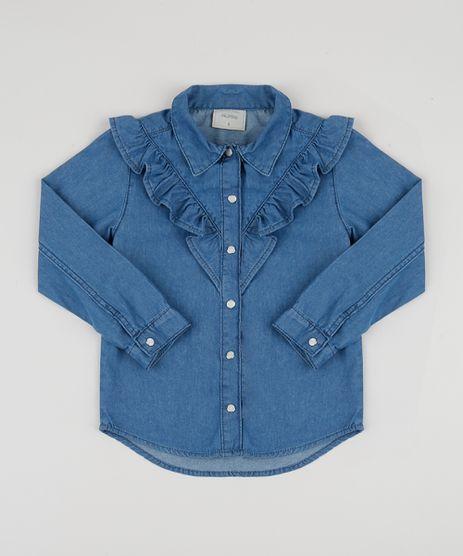 Camisa-Jeans-Infantil-com-Babados-Manga-Longa-Azul-Medio-9935382-Azul_Medio_1
