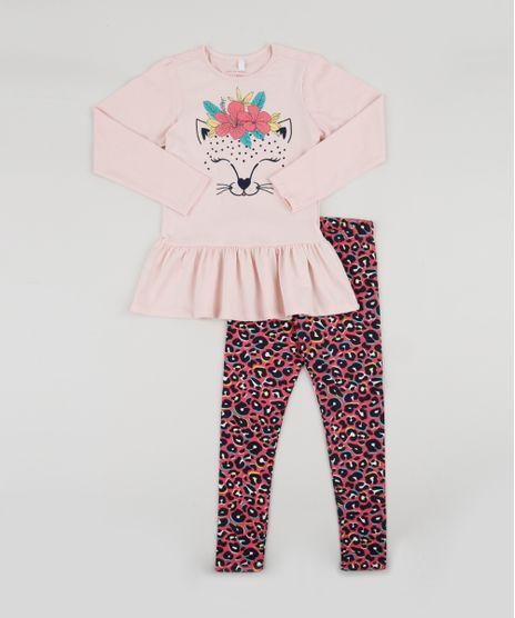 Conjunto-Infantil-de-Blusa-Tigre-com-Babado-Manga-Longa-Rosa-Claro---Calca-Legging-Estampada-Animal-Rosa-9942977-Rosa_1