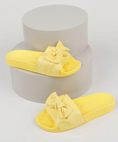 Chinelo-Slide-Feminino-Moleca-com-Laco-em-Suede-Amarelo-9952631-Amarelo_1