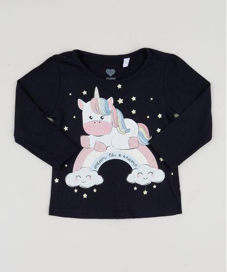 Blusa-Infantil-Unicornio-com-Glitter-Manga-Longa-Azul-Marinho-9943377-Azul_Marinho_1