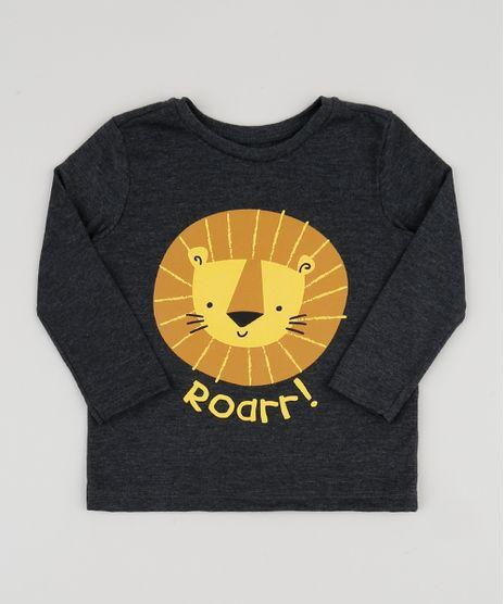 Camiseta-Infantil-Leaozinho-com-Bolso-Manga-Longa-Cinza-Mescla-Escuro-9943221-Cinza_Mescla_Escuro_1