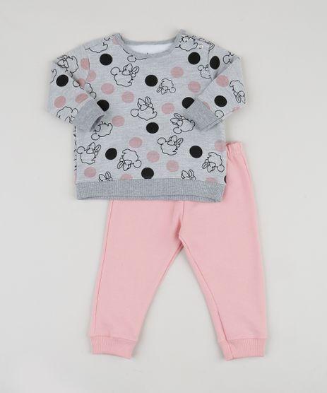 Conjunto-em-Moletom-Infantil-Minnie-de-Blusao-Estampado-Cinza-Mescla---Calca-Rosa-Claro-9948040-Rosa_Claro_1