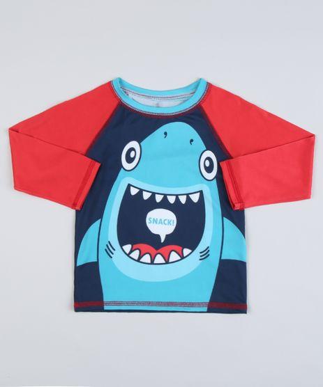 Camiseta-de-Praia-Infantil-Raglan-Tubarao-Manga-Longa-com-Protecao-UV50--Azul-Marinho-9902370-Azul_Marinho_1