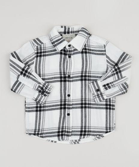 Camisa-Infantil-Estampada-Xadrez-Manga-Longa-Branca-9810807-Branco_1