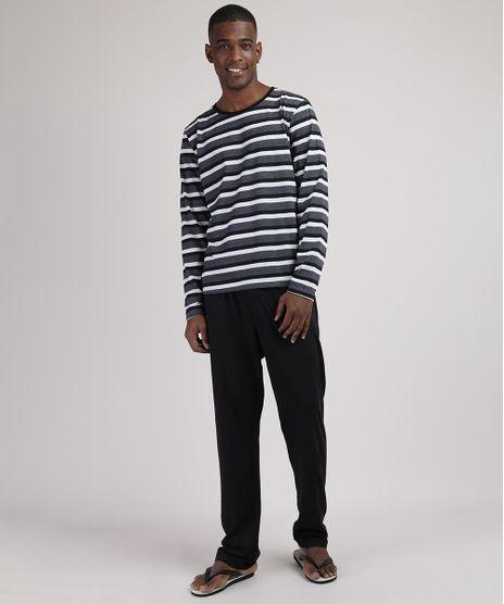 Pijama-Masculino-Camiseta-Estampada-Listrada-Manga-Longa-Gola-Careca-Cinza-Mescla-Escuro-9951346-Cinza_Mescla_Escuro_1