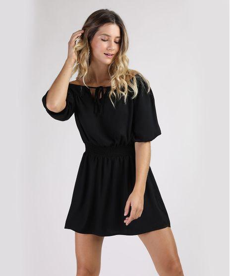 Vestido-Feminino-Curto-Ombro-a-Ombro-Manga-Curta-Preto-9807293-Preto_1