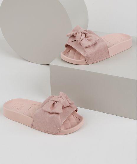 Chinelo-Slide-Infantil-Molekinha-com-Laco-Rose-9952666-Rose_1