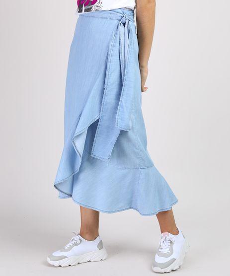 Saia-Jeans-Feminina-Midi-Envelope-com-Babado-Azul-Claro-9945836-Azul_Claro_1