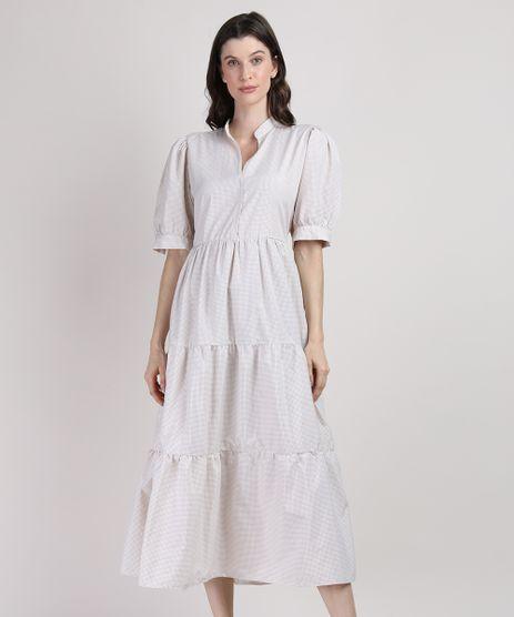 Vestido-Feminino-Mindset-Midi-Estampado-Xadrez-Vichy-com-Recortes-Manga-Bufante-Bege-9950425-Bege_1