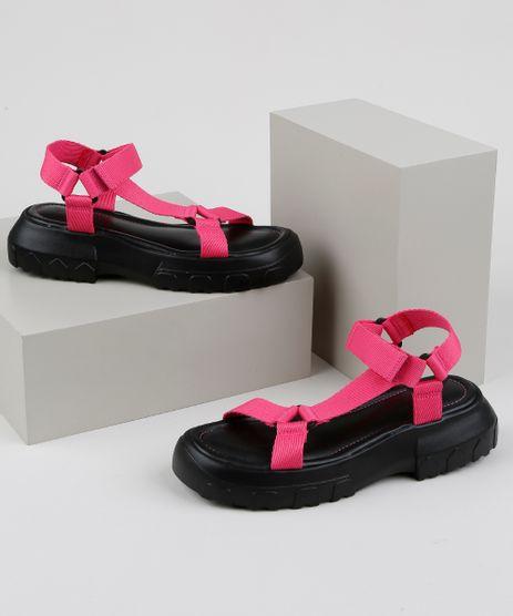 Papete-Feminina-Oneself-Flatform-Tratorada-com-Velcro-Rosa-9952381-Rosa_1