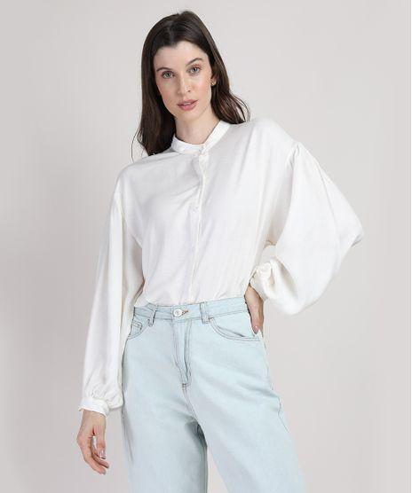 Camisa-Feminina-Mindset-Ampla-com-Linho-Manga-Bufante-Gola-Padre-Off-White-9951165-Off_White_1