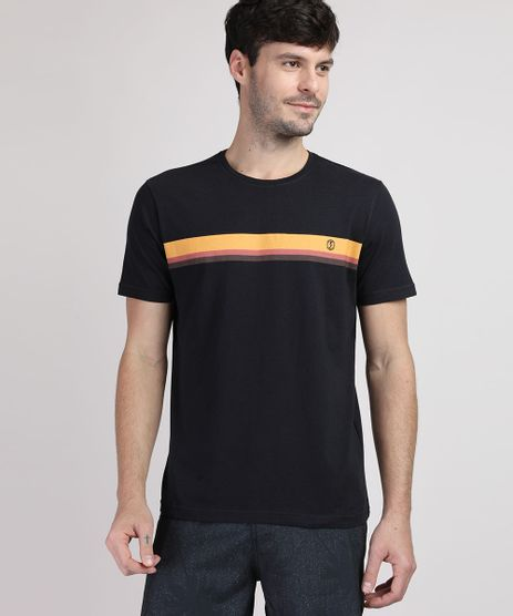 Camiseta-Masculina-Estampa-de-Listra-Manga-Curta-Gola-Careca-Preta-9952568-Preto_1