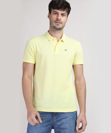 Polo-de-Piquet-Masculina-Basica-Comfort-Manga-Curta-Amarela-Claro-9668818-Amarelo_Claro_1