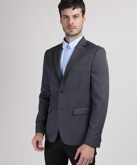 Blazer-Masculino-Comfort-com-Bolsos-Cinza-Mescla-Escuro-9655462-Cinza_Mescla_Escuro_1