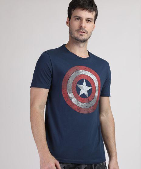 Camiseta-Masculina-Capitao-America-Manga-Curta-Gola-Careca-Azul-Marinho-9738700-Azul_Marinho_1