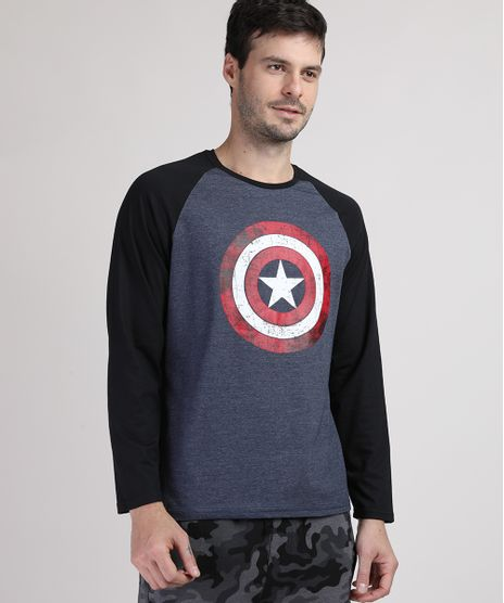 Camiseta-Masculina-Capitao-America-Manga-Longa-Raglan-Gola-Careca-Azul-Escuro-Mescla-9909494-Azul_Escuro_Mescla_1