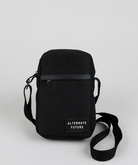 Shoulder Bag Transversal Masculina Preta