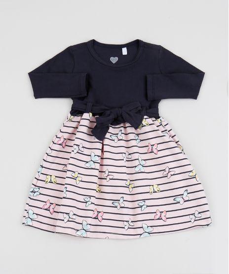 Vestido-Infantil-Estampado-de-Borboletas-Manga-Longa-Rosa-9946485-Rosa_1