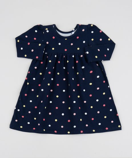 Vestido-Infantil-Estampado-de-Poa-Manga-Longa-Azul-Marinho-9944845-Azul_Marinho_1