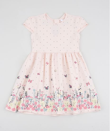 Vestido-Infantil-Estampado-de-Borboletas-Manga-Curta-Rosa-Claro-9915647-Rosa_Claro_1