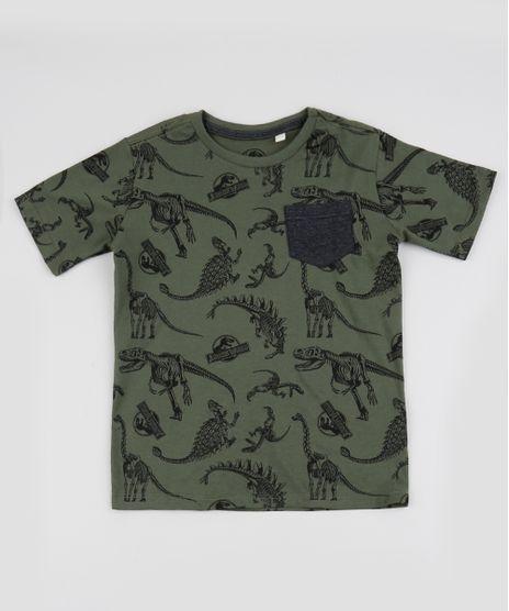 Camiseta-Infantil-Jurassic-World-Estampada-Manga-Curta-Verde-Escuro-9942967-Verde_Escuro_1