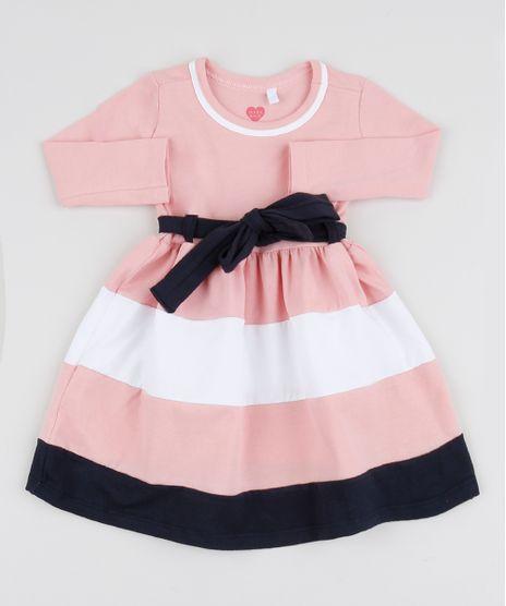 Vestido-Infantil-com-Laco-e-Listras-Manga-Longa-Rosa-9945613-Rosa_1