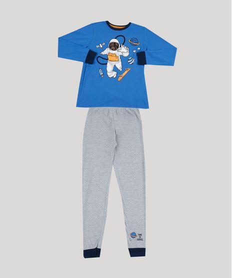 Pijama-de-Moletom-Infantil-Astronauta-Manga-Longa-Cinza-Mescla-9942702-Cinza_Mescla_1