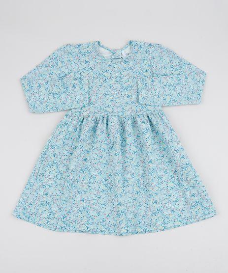 Vestido-Infantil-Estampado-Floral-Manga-Longa-Verde-Claro-9915645-Verde_Claro_1