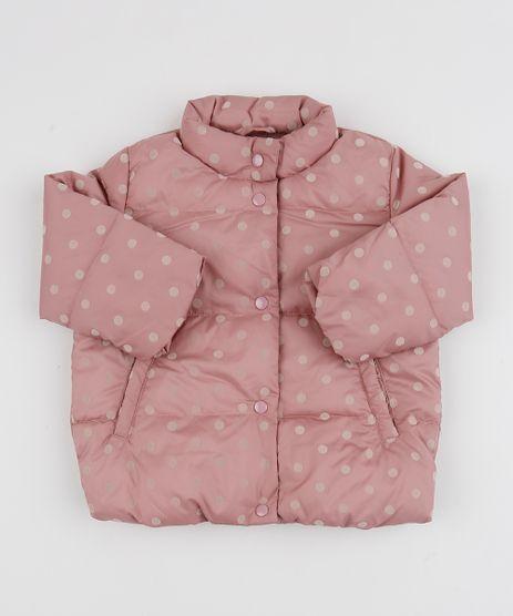 Jaqueta-Puffer-Infantil-Estampada-de-Poa-Gola-Alta-Rosa-Escuro-9818705-Rosa_Escuro_1