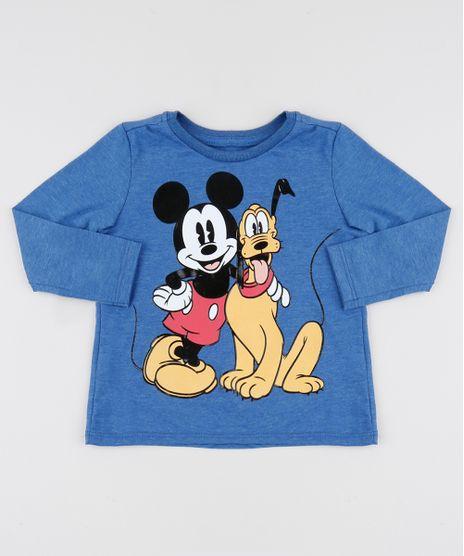 Camiseta-Infantil-Mickey-Mouse-Manga-Longa-Azul-Escuro-9951854-Azul_Escuro_1