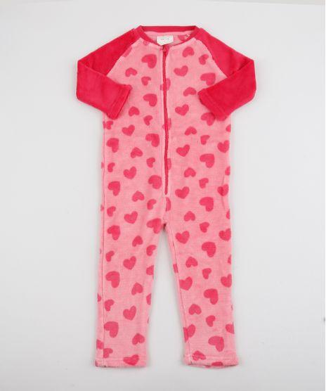 Pijama-Macacao-Infantil-em-Fleece-Estampado-de-Coracoes-Rosa-9769037-Rosa_1