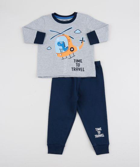 Pijama-Infantil--Time-to-Travel--Manga-Longa-Cinza-Mescla-9942700-Cinza_Mescla_1