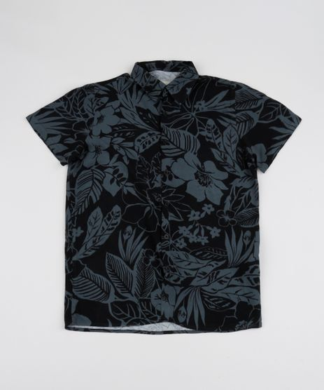 Camisa-Juvenil-Estampada-de-Folhagens-Manga-Curta-Chumbo-9920027-Chumbo_1